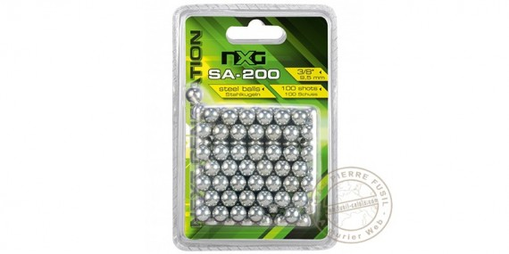 NXG - Billes acier pour lance-pierre - x100