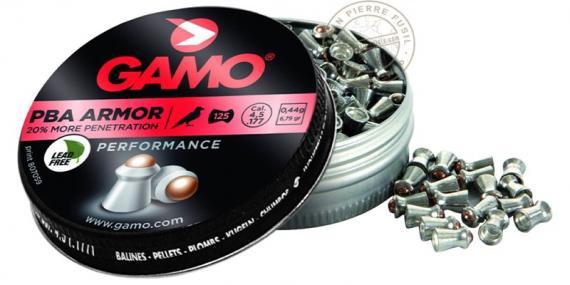 Plombs GAMO PBA Armor 4,5mm / 125 pour carabine