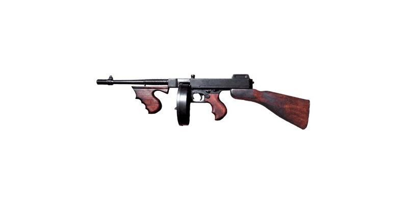 Réplique inerte de la Thompson ''Tommy Gun'' camembert