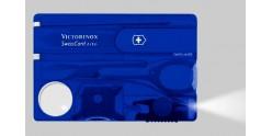 VICTORINOX knife - SwissCard Lite translucent blue 8p