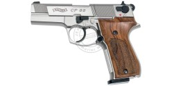 Pistolet 4,5 mm CO2 WALTHER CP88 4'' Nickelé Bois (3,6 joules)