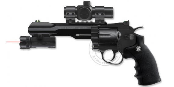 UMAREX - Smith & Wesson TRR8 CO2 revolver with lamp-laser - .177 bore (2,75 joules)