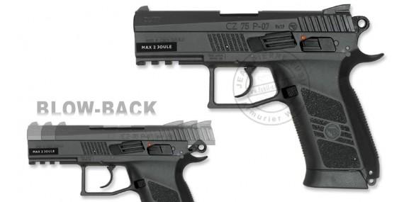 Pistolet à plomb CO2 4.5 mm ASG CZ 75 P-07 Duty - Blowback (2 joules)