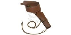 Buscadero cuir - 1 revolver