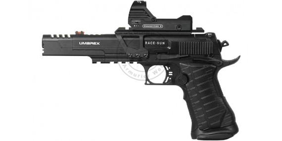 Pistolet à plomb CO2 4.5 mm UMAREX Race Gun Set + Viseur point vert (2,6 joules)
