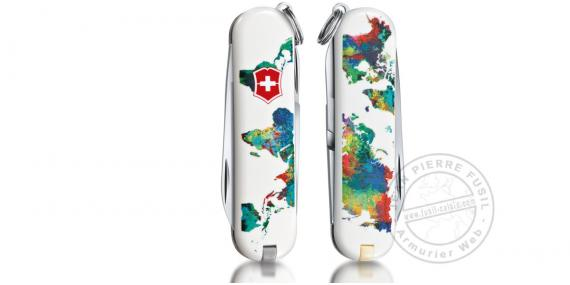 Couteau VICTORINOX - The World - My home - Classic 5p