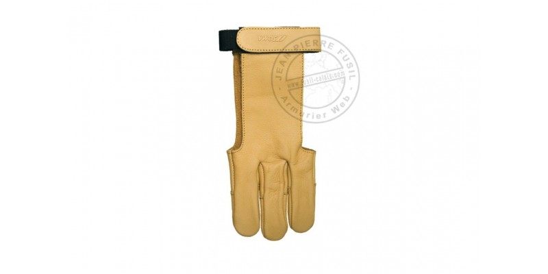 Yellow leather glove - Size L