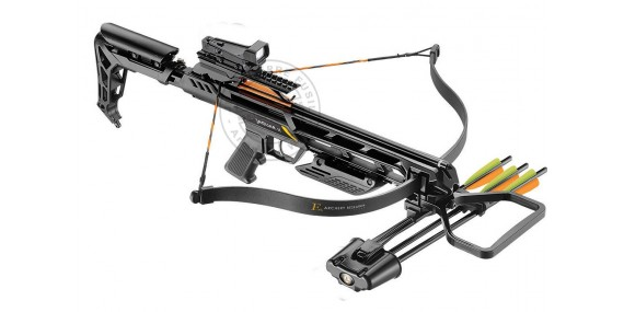Jag II Crossbow 175 Lbs Black, with quiver, bolts and red dot sight
