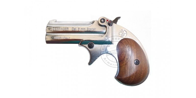 Pistolet alarme KIMAR - Derringer nickelé Cal. 6mm