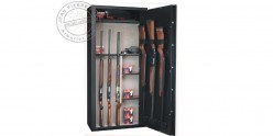 14 guns with scope cabinet safe + safe box + removable shleves- INFAC Sentinel