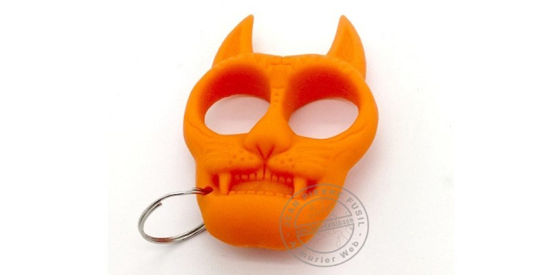 Cat key ring knuckle-duster - Orange