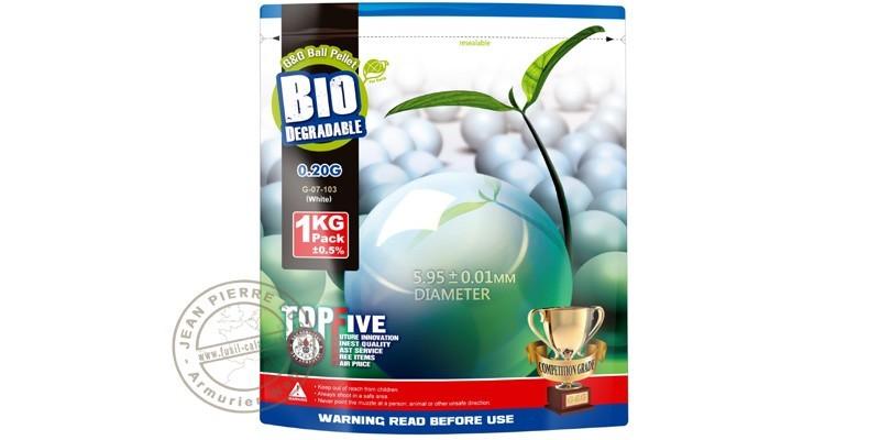Sachet 2000 billes Soft Air blanche - biodégradable - 0.20g
