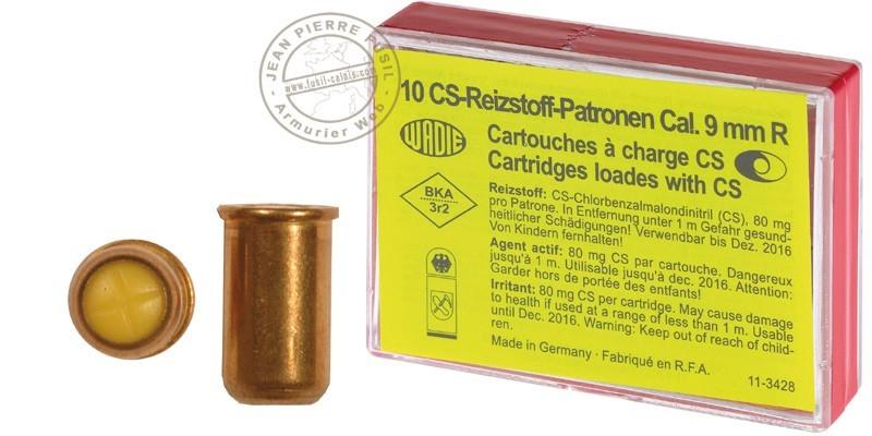 9 mm CS gas revolver cartridges 10