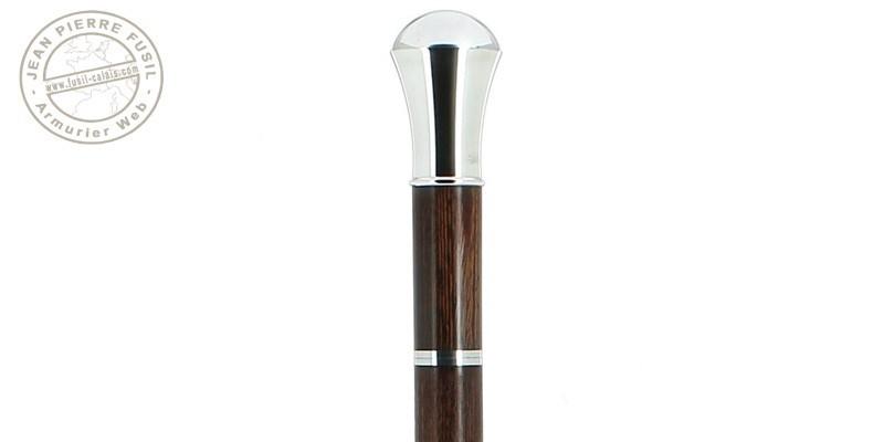 Canne épée Fayet - Pommeau boule argentée