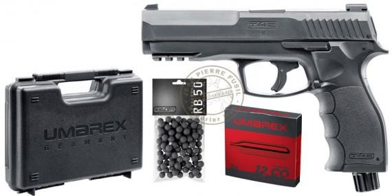 T4E HDP 50 CO2 rubber bullets pistol pack - Cal.50 (11 Joule max)